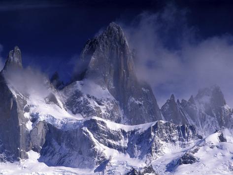 Cerro Fitz Roy, Los Glaciares National Park, Argentina Photographic Print