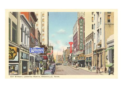 Gay Street, Knoxville, Tennessee Art Print