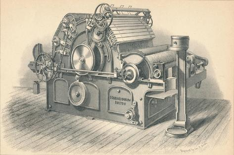 Self Stripping Carding Engine, by Dobson and Barlow Bolton, 1874 Giclee Print