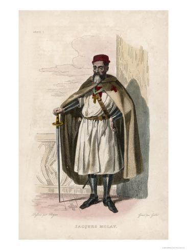 Jacques de Molay the Last Grand Master of the Knights Templar Burnt Alive for Alleged Crimes Giclee Print