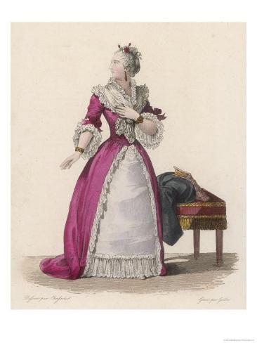 Mademoiselle Clairon (Claire Josephe Hippolyte Leris de la Tude) French Actress Giclee Print