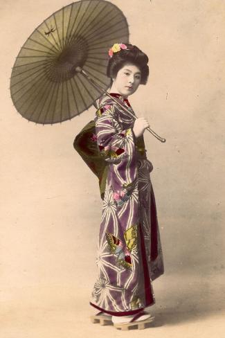 Geisha, C.1900 Stampa fotografica