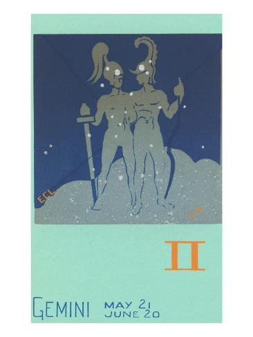 Gemini, the Twins Art Print