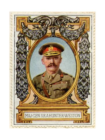 General Sir A. Hunter-Weston, Stamp Stampa giclée