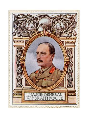 General Sir Braithwaite, Stamp Stampa giclée