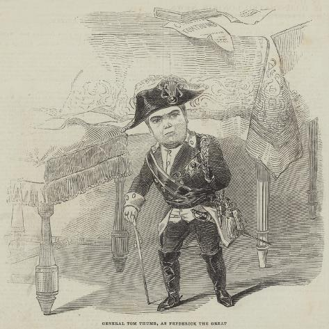 General Tom Thumb, as Frederick the Great Giclee Print