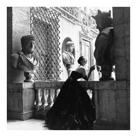 Avondjurk, Rome 1952 Kunstdruk