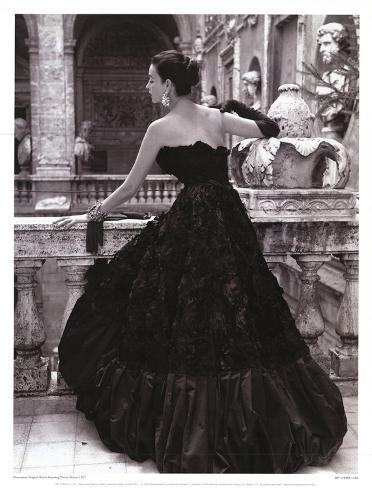 Black Evening Dress, Roma 1952 Art Print