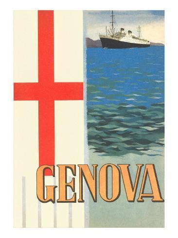 Genoa, Travel Poster Art Print