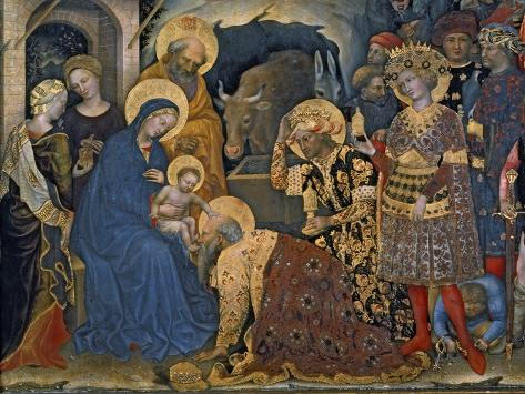 The Adoration of the Magi, Detail of Virgin and Child with Three Kings, 1423 Giclee Print