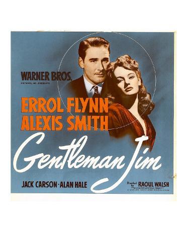 Gentleman Jim, Errol Flynn, Alexis Smith on Window Card, 1942 Photo