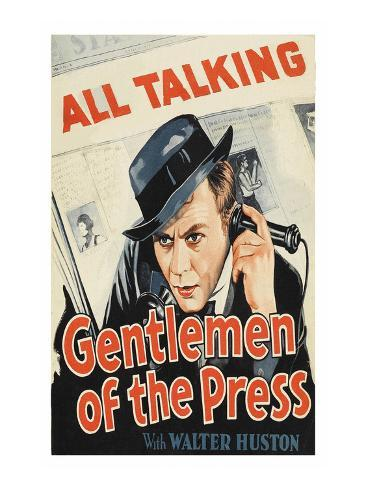Gentlemen of the Press Art Print
