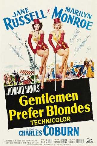 Gentlemen Prefer Blondes, 1953 Art Print