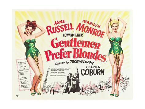 Gentlemen Prefer Blondes 1953 Gicléetryck