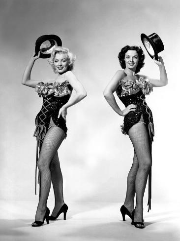 Gentlemen Prefer Blondes, Howard Hawks, Marilyn Monroe, Jane Russell, 1953 Photo