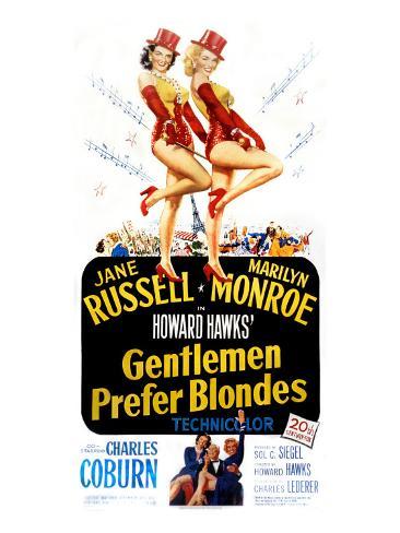 Gentlemen Prefer Blondes, Jane Russell, Marilyn Monroe, 1953 Photo