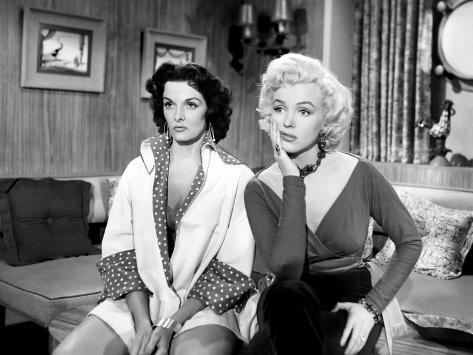 Gentlemen Prefer Blondes, Jane Russell, Marilyn Monroe, 1953 Foto