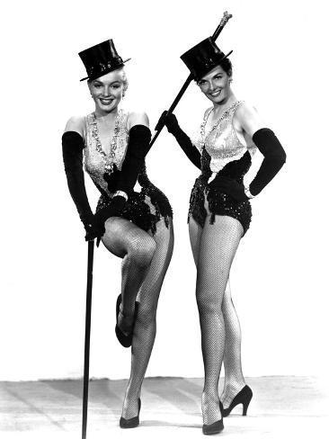 Gentlemen Prefer Blondes, Marilyn Monroe, Jane Russell, 1953 Photo