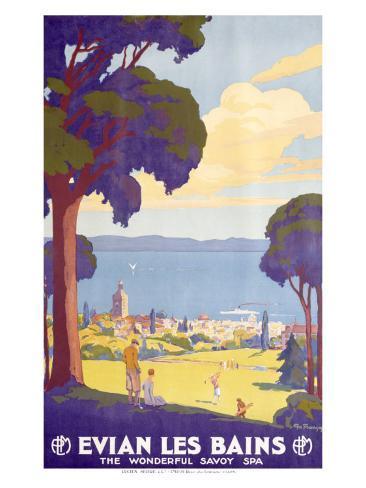 Evian les Bains Giclee Print