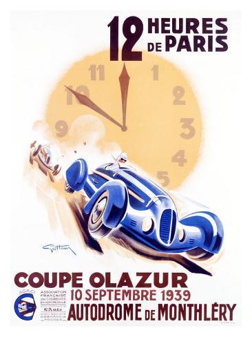 12 Heures de Paris, Coupe Olazur Giclee Print