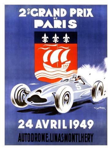 2nd Grand Prix de Paris Giclee Print