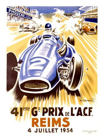 41st Grand Prix of the Automobile Club de France, Reims Giclee Print
