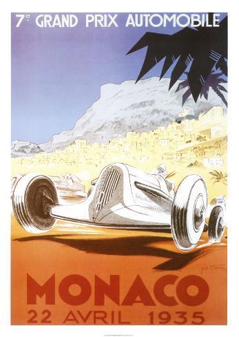 7th Grand Prix Automobile, Monaco, 1935 Art Print