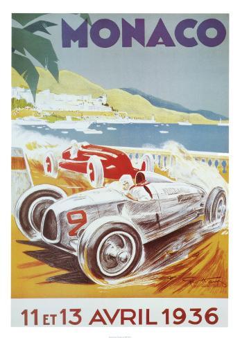 8º. Grande Prêmio de Mônaco, 1936 Impressão artística