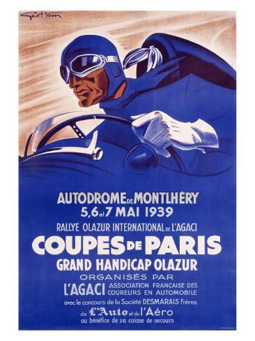 Coupes de Paris Giclee Print