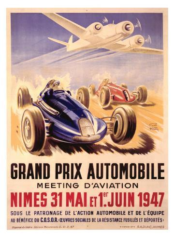 Grand Prix Automobile Meeting Giclee Print