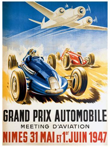 Grand Prix Automobile Nimes Giclee Print