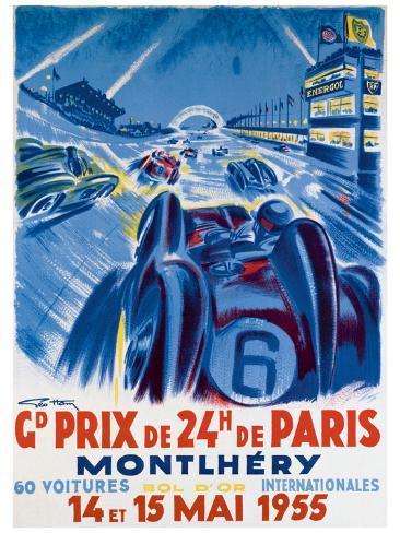 Grand Prix de Montlhery Giclee Print
