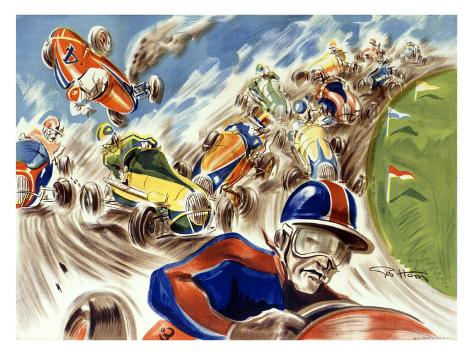 Midget Racing Giclee Print