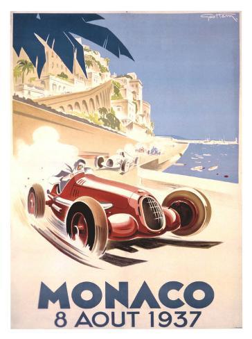 Monaco, 1937 Gicléetryck