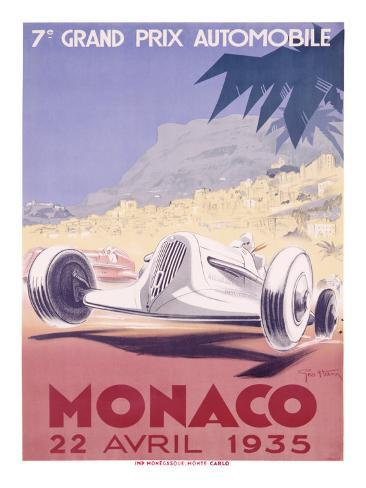 Monaco Grand Prix, 1935 Giclee Print