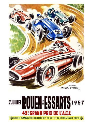 Rouen les Essarts, 1957 Giclee Print