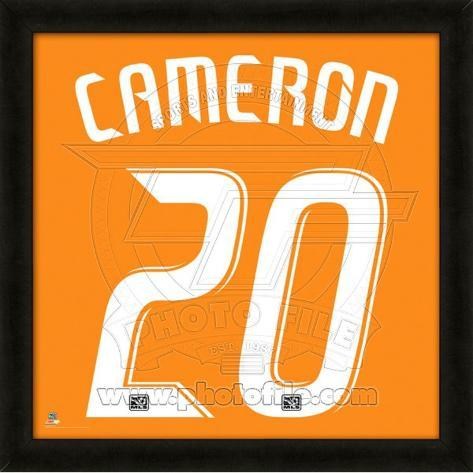 Geoff Cameron, Dynamo representation of the player's jersey Framed Memorabilia
