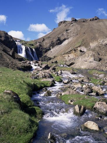 Djupaqil Gorge, Southwest Area Near Hveragerdi, Iceland, Polar Regions Photographic Print
