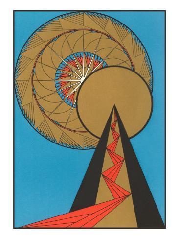 Geometric Art Deco Poster - AllPosters.co.uk