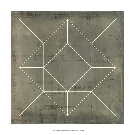 Geometric Blueprint VIII Giclee Print