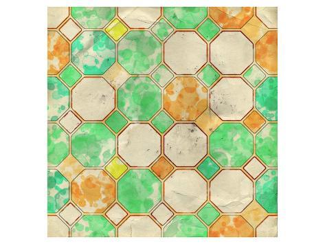 Geometric Color Shape XII Art Print