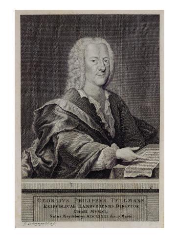 Portrait of Georg Philipp Telemann Giclee Print