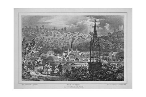 View of the Sayner Huette in Sayn, Near Bendorf Am Rhein, Printed by Engelmann, Paris, 1850 Stretched Canvas Print