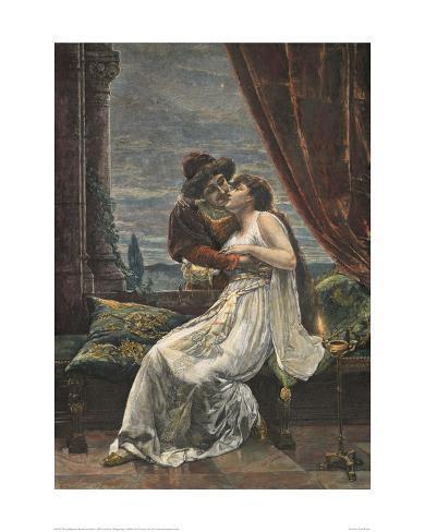 Romeo and Juliet, c. 1895 (woodcut) Giclee Print