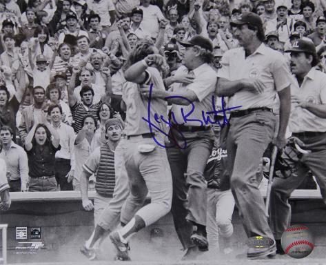 George Brett Pine Tar Incident Signed Horizontal Photo