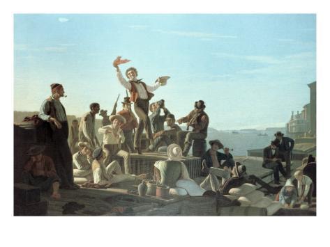 The Jolly Flatboatmen Giclee Print