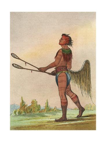 Racial, Choctaw Native Impressão giclée