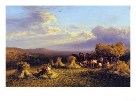 Harvest Scene, 1876 Giclee Print