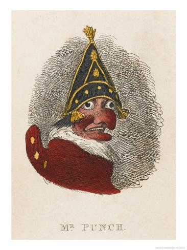 Portrait of Mr. Punch Giclee Print