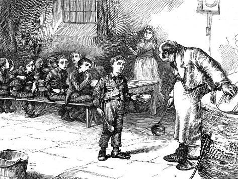 Scene from Oliver Twist by Charles Dickens, 1871 Giclée-vedos